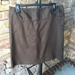 Banana Republic Stretch Brown Skirt